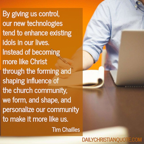 We shape our communities on Social Media around our preferences - despite this not being a Biblical ideal